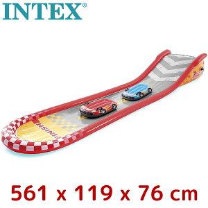 INTEX インテックス レーシング ファン スライド 561×119×76cm 57167 ビニールプール 家庭用プール キッズプール 子ども 子供 水遊び すべり台 滑り台 ウォータースライダー 夏休み