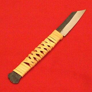 ■播州三木肥後守籐巻きナイフ角型ケース付刃渡60mm鍛造刃物レトロアンティークアウトドア雑貨
