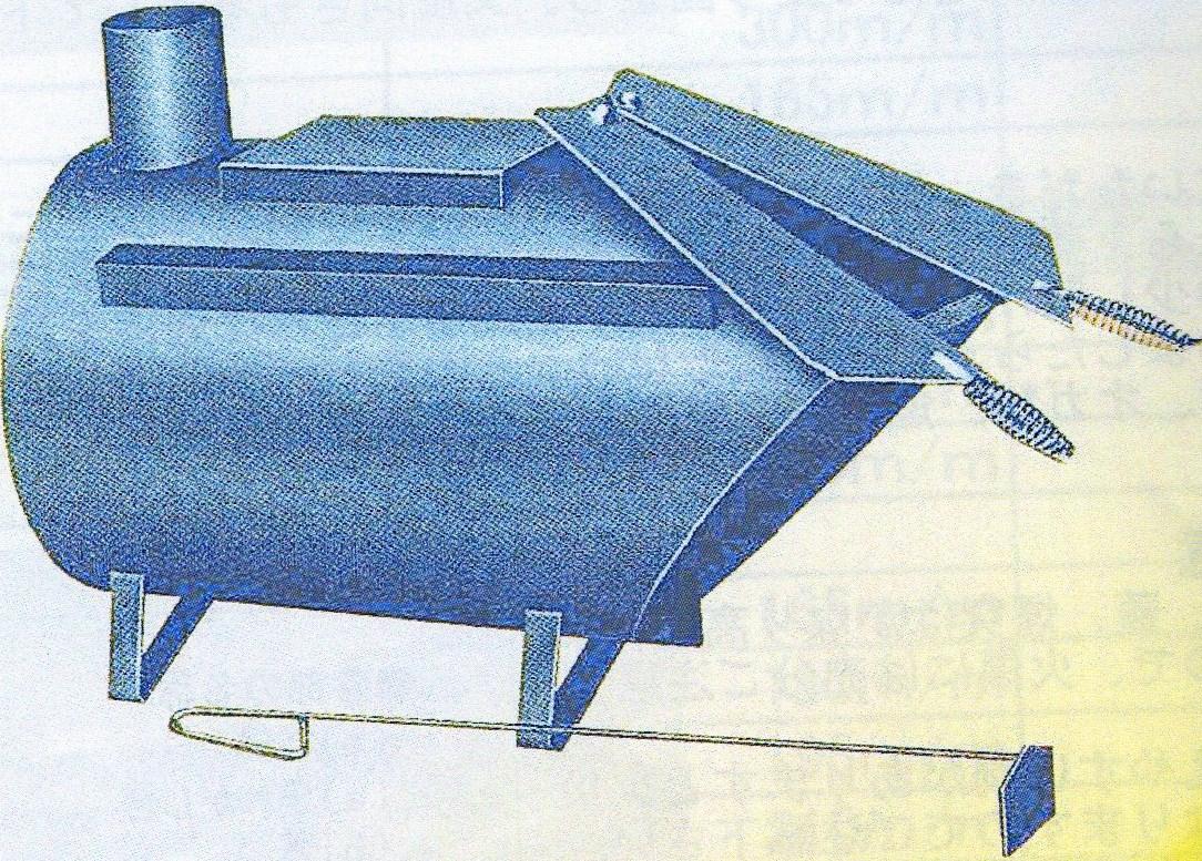■ムダのない廃材ストーブ! 薪ストーブ D-51型【メーカー直送】