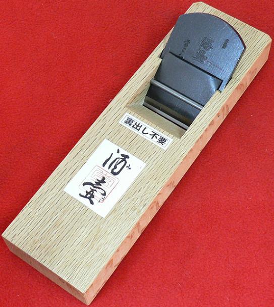 ■常三郎鉋 酒壷(みき)特殊粉末ハイス鋼 裏出不要白樫 普通口 造作用 55mm