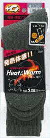 ■ おたふく 発熱+調湿機能 サーモテック BTサーモソックス フットパイル 先丸靴下【2足組】【グレー】 JW-134 冬