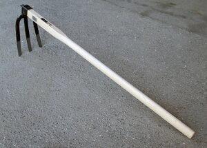 ■播州三木産 高級鍛造 中型 三本爪 備中鍬 くわ900ミリ柄 農業 クワN207