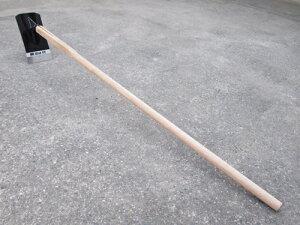 ▲播州三木産 高級手打鍛造 割り込み柄 鍬 くわ ハガネ付 1350mm柄 農業 園芸 #N6005