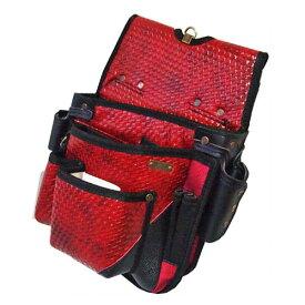 ■KH 釘袋 ネイルバッグ BAMBUL バンブル BA09-R レッド 赤 基陽 電工 大工 職人 鳶職 配管工 腰袋 竹