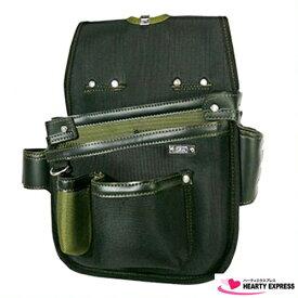 ■KH 基陽 釘袋 ネイルバッグ 秋桜 オリーブ GEA1609G 電工 大工 職人 鳶職 配管工 腰袋 グリーン 緑
