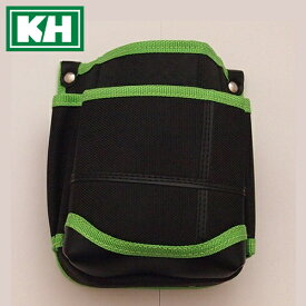 ■KH 基陽 武尊魂(タケルスピリッツ) 2段腰袋 黒×緑 TK02K-G 小型腰袋