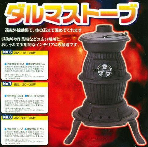 ■SHOEI ダルマストーブ NO.6 高級鋳物製薪ストーブ【メーカー直送】