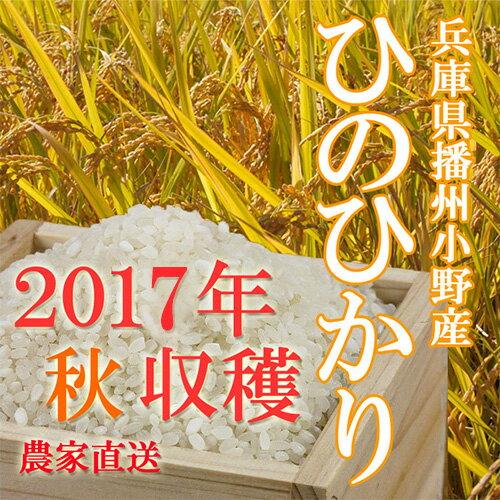 ■2017年 秋 収穫 新米 ひのひかり 30kg 兵庫県播州小野産 専用冷蔵庫にて冷却保管!