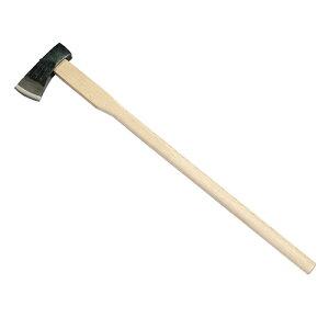 ■土佐手打刃物 全鋼 マキ割斧 80mm刃 頭1.5kg 900mm柄 C3O サック付 鍛造品 本職用 薪割