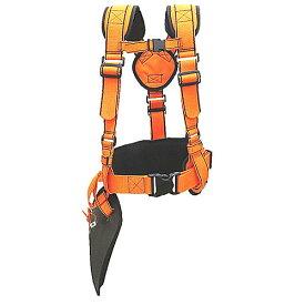 ■肩掛けベルトデラックスDX HT-KB003-OR オレンジ 刈払機の重さを分散 腰パッド付き 草刈り