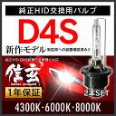カローラフィールダー14系に純正交換 HID D4S 白光 【送料無料】モデル信玄