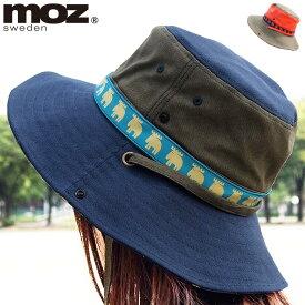 moz モズ 帽子 moz sweden帽子 モズプリントアドベンチャーハット( レディース ハット あごひも あご紐 紐 紐付き サファリハット アドベンチャーハット テンガロンハット アウトドア 北欧 )