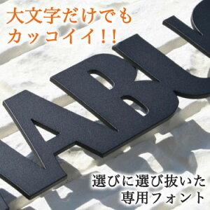 【送料無料】ステンレスレーザーカット表札GHO-41「ブロック体・アンダーライン無し」