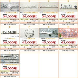 【送料無料】ステンレスレーザーカット表札「バフ仕上げ」・デザイン一覧表