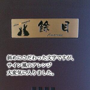 マンション表札ステンレスエッチング「エクストラバージョン」・設置例