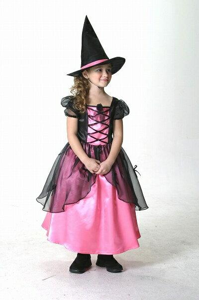 [魔女 コスプレ] メロディドレス ピンク(子供用:140cm)  [ハロウィン衣装 ハロウィーン コスチューム 仮装 子供 女の子]【431329】