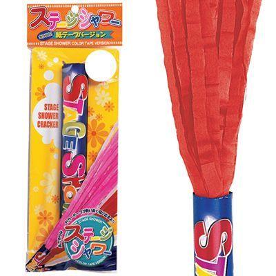 【紙テープ赤】ステージシャワークラッカー【パーティークラッカー・スパークリングシャワーやファイヤーギターの替え弾として使用可能】