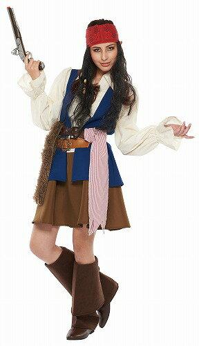 [ジャックスパロウ 海賊 コスプレ] 大人女性用 ジャックスパロウ  [パイレーツ・オブ・カリビアン コスプレ 衣装 仮装 ハロウィン コスチューム ディズニー Disney]【_958553】