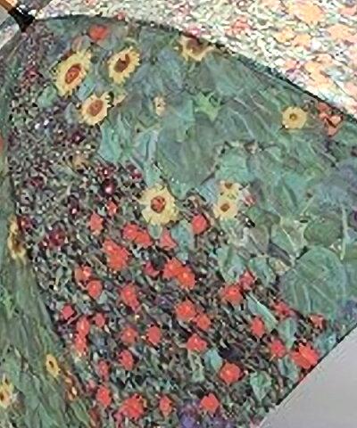 [名画かさ]ジャンプ傘(クリムトガーデン)[名画傘かさ雨傘アート油絵絵画ジャンプ傘ワンタッチ傘アンブレラおしゃれ傘]【B-9096_403641】