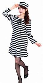 [囚人 コスプレ] トキメキグラフィティ プリズナー [囚人 衣装 コスチューム プリズン 衣装 ハロウィン 女性 衣装 仮装 レディース]【_876724】