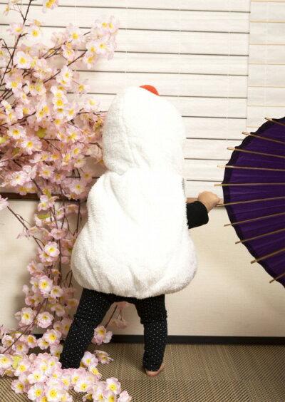 [年賀状コスプレ]マシュマロかがみもちベビー[鏡餅コスプレ年賀状コスプレ赤ちゃんお餅年賀コスチューム仮装衣装ベビー用]【A-1939_884033】