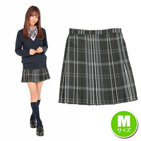 d02e0c99a3e86c [女子高生 制服 コスプレ] ティーンズエバー スカート(ブラック/グレー)M [