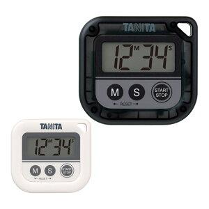 タニタ 丸洗いタイマー TD-376N|防水 IPX7 洗える 濡れた手 汚れ マグネット ストラップ穴 スポーツ 勉強 理美容室 サロン 美容室 美容院 キッチン カラー 時間 計測 簡単