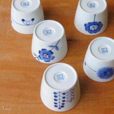 【波佐見焼】【磁器】【花柄】【マルチカップ】【日本製】【保存】【食器】flowersマルチカップ