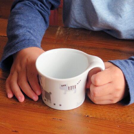 波佐見焼重山こども食器おさんぽねこミニマグカップ【波佐見焼】【HASAMI】【重山】【和】【食器】【モダン】【おしゃれ】【北欧】【料理】【贈り物】【御祝】【プレゼント】【日本製】【磁器】【陶器】