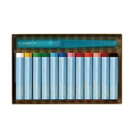Vistage ヴィスタージュ 大人の水彩パステル 12色 日用品雑貨 塗り絵 絵画 趣味 水彩色鉛筆 色えんぴつ 水筆付き ぺんてる 水に溶ける