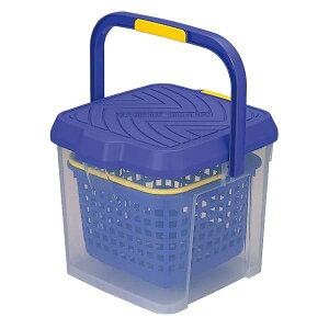 洗車 イノマタ化学 かしこいバケツ 17L クリアブルー アウトドア レジャー 釣り いす 踏み台 掃除 バスケット