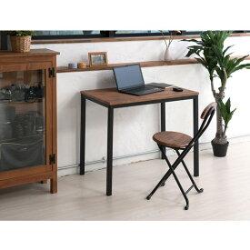 ◎永井興産 NK-115 ヴィンテージテーブル 机 つくえ デスク 木目 ブラウン 新生活 単身 仕事 スチール 高級感