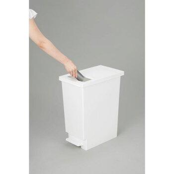 新輝合成トンボユニードプッシュ&ペダル45Lホワイトフタありダストボックスゴミ箱ごみ箱お洒落オシャレおしゃれモダンシンプル角型