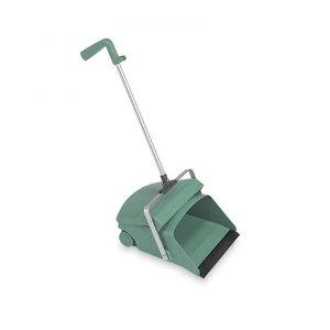 テラモト デカチリトリ一本柄 グリーン ちりとり 掃除 ほうき ゴミ 清掃