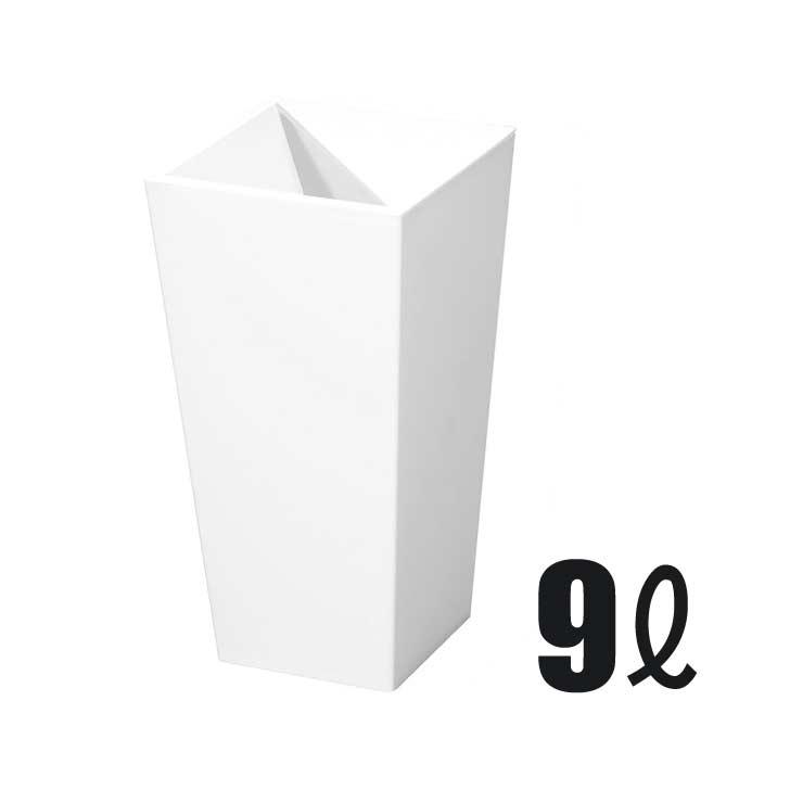 新輝合成 トンボ ユニード カクスS-36 ホワイト 9L ダストボックス ゴミ箱 隠す 見せない ごみ箱 お洒落 オシャレ おしゃれ シンプル 角型 スクエア[税込5400円以上送料無料!クーポン配布中]