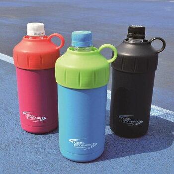 ●パール金属クールストレージペットボトルクーラー500・600ml兼用(ブラック)D-6483ペットボトルクーラーボトル熱中症対策