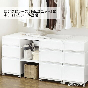 ●★天馬【通販限定】フィッツユニットケース4020(2個組)ホワイトFits収納ケース衣装ケースクローゼットシンプル丈夫