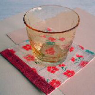 From kurochiku hemp small coaster nadeshiko (red)