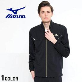 ミズノ ジャージ MIZUNO クイックドライ ライン ウォームアップシャツメンズ スポーツ 陸上 ジョギング トップス K2JC8110