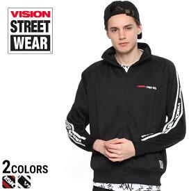 今ならポイント10倍 VISION STREET WEAR ジャケット ヴィジョン ジャージ サイド ライン ロゴ トラック ジャージ VISION STREET WEAR ビジョンストリートウェアメンズ カジュアル 男性 ファッション トップス 7723204