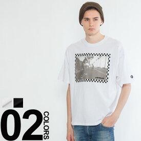 エアウォーク Tシャツ AIRWALK 布帛 アップリケ フォト プリント 半袖メンズ ストリート スケート ファッション クルーネック 半袖 82736541