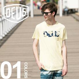 デウスエクスマキナ デウス Tシャツ Deus Ex Machina コットン100% ロゴ プリント クルーネック 半袖メンズ カジュアル 男性 メンズファッション クルーネック サーフ tシャツ surf DMS71969