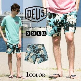 デウスエクスマキナ デウス ショートパンツ Deus Ex Machina フラワー柄 ウエスト紐メンズ カジュアル 男性 メンズファッション ボトムス ズボン ショーパン スポーティー surf DMP82019