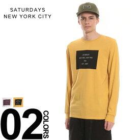 サタデーズサーフ Tシャツ ニューヨークシティ SATURDAYS NEWYORK CITY ロンT 綿100% BOXロゴ クルーネック 長袖 Tシャツメンズ カジュアル 男性 ファッション トップス シャツ ロンT コットン プリント リブ サーフ tシャツ surf M21829LS01