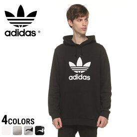 アディダス パーカー adidas トレフォイル 綿100% ロゴプリント プルオーバーメンズ カジュアル 男性 ファッション トップス かぶり 長袖 裏毛 プリント シンプル