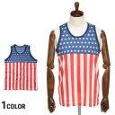 タンクトップ アメリカ国旗 星条旗 USA タンクトップ 星条旗 アメリカ 衣装 米国 ものまね SAKAZEN 20代 30代 40代 服…