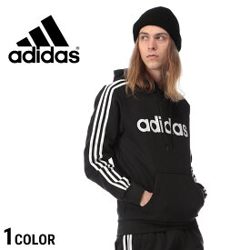 ■2000円offクーポン有■アディダス パーカー adidas 裏起毛 スリーライン プルオーバー M-CORE 3STRIPES BLACKメンズ カジュアル 男性 ファッション トップス かぶり フード ロゴプリント シンプル FSG50DQ3096