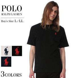 ラルフローレン Tシャツ POLO RALPH LAUREN ポロラルフローレン 綿100% ワンポイント クルーネック 半袖 ボーイズサイズメンズ カジュアル 男性 ファッション トップス シャツ シンプル コットン ベーシック 323674984