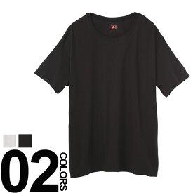 大きいサイズ メンズ Hanes ヘインズ ビズカジ魂 抗菌防臭 綿100% クルーネック 半袖 アンダーTシャツ 5L カジュアル アンダーウェア 下着 シャツ コットン 快適 BTHM1EN701K5L
