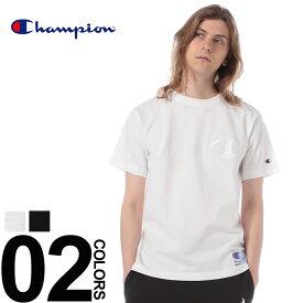 チャンピオン Tシャツ Champion 綿100% BIG刺繍Cロゴ クルーネック 半袖 Tシャツメンズ カジュアル 男性 ファッション トップス シャツ コットン シンプル 春夏 C3M358 無地 シンプル ベーシック 定番